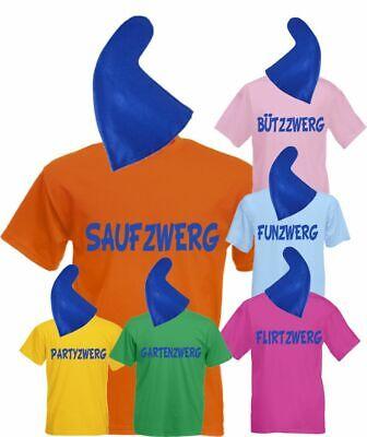 Zwergenkostüm Herren T-Shirt Karneval Kostüm Gruppenkostüm Fasching - Kostüm Tshirt