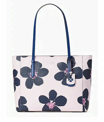 💚 KATE SPADE Medium Tote Grand Flora Shoulder Bag Floral Purse Serendipity Pink
