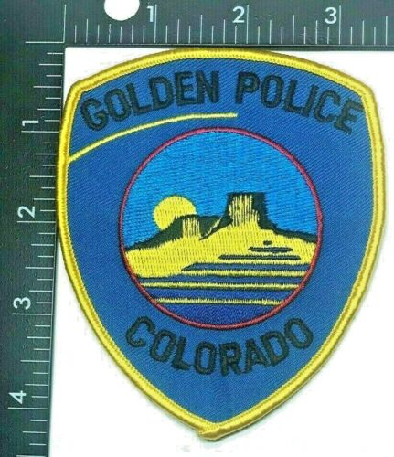 GOLDEN POLICE DEPARTMENT PATCH COLORADO (PD-5) SHOULDER INSIGNIA