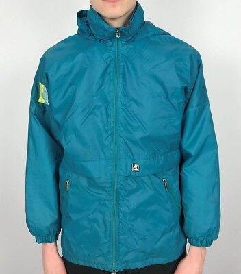 Vintage K-WAY Casual Rain Jacket | Wavey Retro 90s | Extra Small XS Green