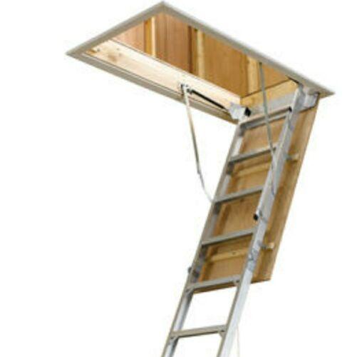 Gas Strut Aluminum 8' - 10' Pull Down Attic Ladder Easy Storage Access Door Kit