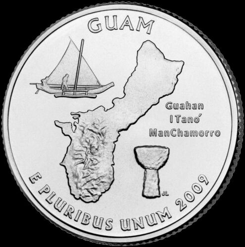"2009 P Guam Territorial Quarter New U.S. Mint ""Brilliant Uncirculated"" Coin"