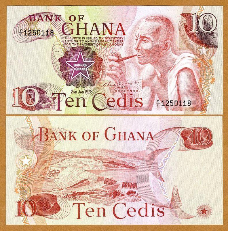 Ghana / Africa, 10 Cedis, 2-1-1978, P-16 (16f), UNC
