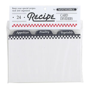 Recipe-Card-Dividers-4-x-6-by-Weatherbee-Organize-Your-Recipes-Set-of-24