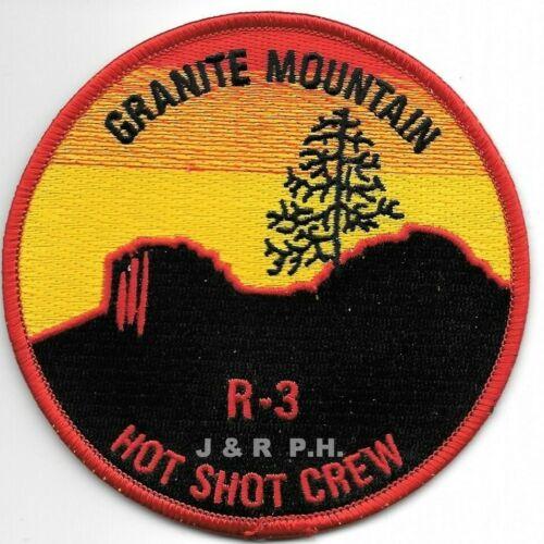 """Wildland - Granite Mountain R-3 Hot Shot Crew, AZ (4"""" round size) fire patch"""