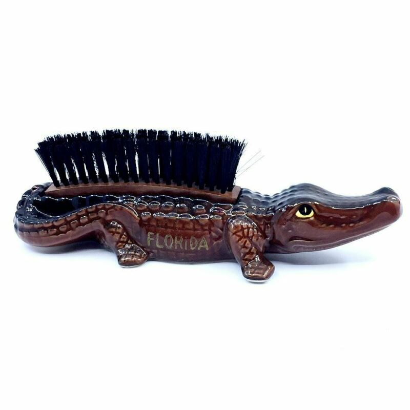 Vintage Ceramic Alligator Lint Brush