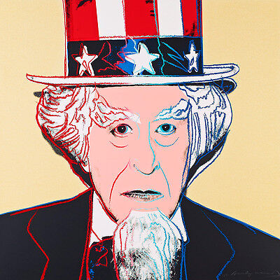 Uncle Sam from Myths 1981 by Andy Warhol 54cm x 54cm Canvas Art Print