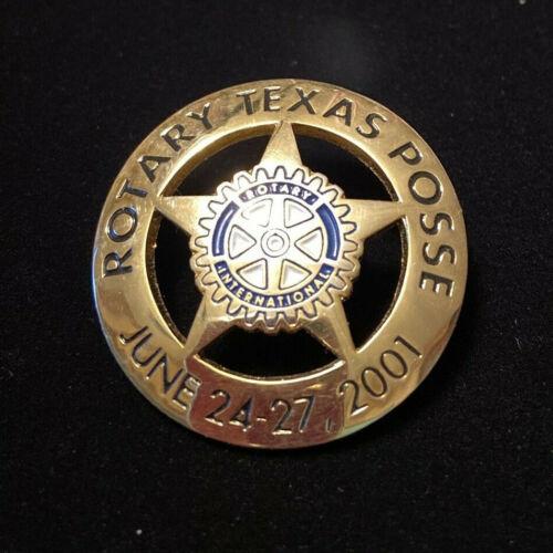 Rotary International Pin ROTARY TEXAS POSSE JUNE 24-27, 2001