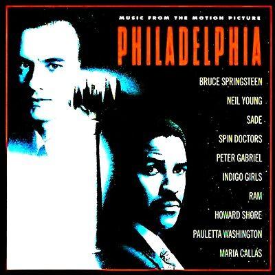 PHILADELPHIA - SOUNDTRACK - NEIL YOUNG, BRUCE SPRINGSTEEN, SADE, PETER GABRIEL for sale  Maple Ridge