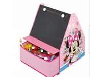 Disney Minnie mouse bookcase, bookshelf, storage and chalk board