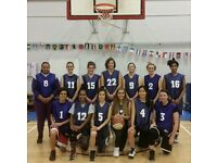 Women's basketball team in East London, all ages all abilities
