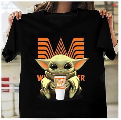Baby Yoda Drink Whataburger Shirt Graphic Tee Best Gift