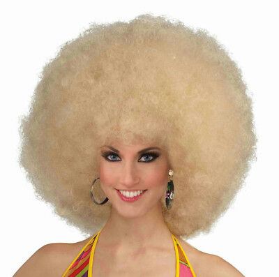 Afro Fro Wig - Blonde Deluxe Mega Afro Fro Wig
