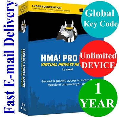 HMA Hide My Ass! PRO VPN Unlimited Device / 1 Year (Unique Global Key Code) 2019