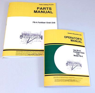 Operators Parts Manuals For John Deere Van Brunt Fb-a Fb97a Grain Drill Catalog