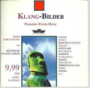 cd D1 VARIOUS KLANG BILDER PARADISE TOURS MUSIC ( Kowa Magec Bakos Okano Tossi - Italia - cd D1 VARIOUS KLANG BILDER PARADISE TOURS MUSIC ( Kowa Magec Bakos Okano Tossi - Italia