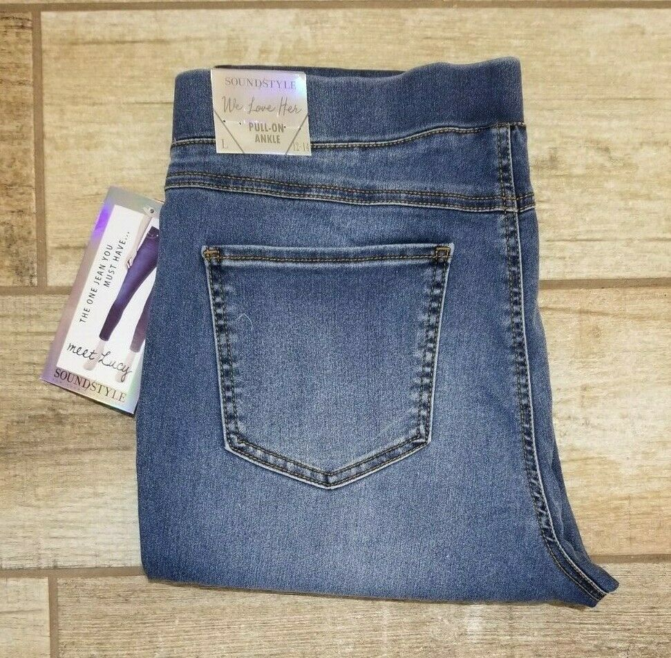 "LUCY JEANS Sound/style PULL ON Leggings 22.5"" CROP high wais"