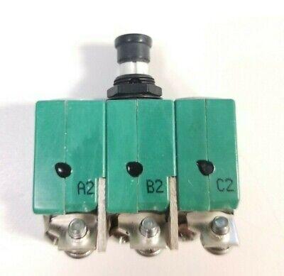 Klixon 6tc2-5 Circuit Breaker 5a Aircraft Circuit Breaker Ms14154-5