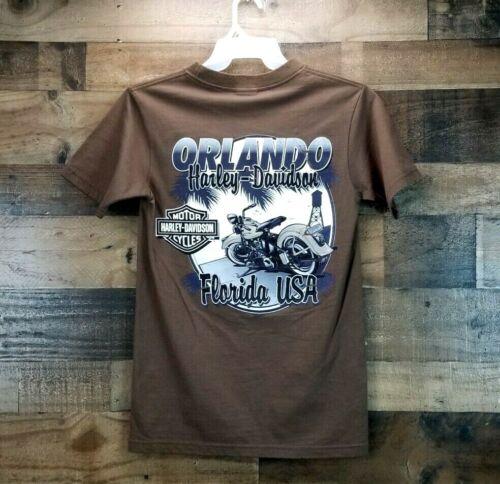 Nwt Harley Davidson Small Brown T-shirt Orlando Florida USA Tee Motorcycles NEW
