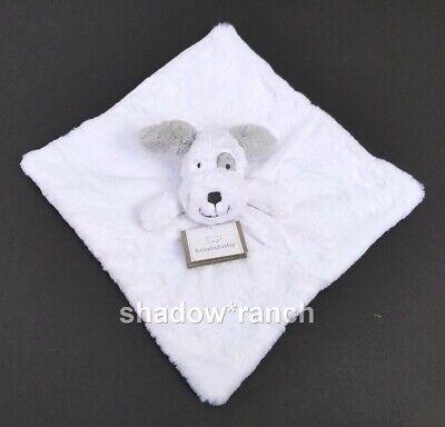 NWT Koala Baby Gray White Puppy Dog Security Blanket Soft Plush Lovey Rattle Toy