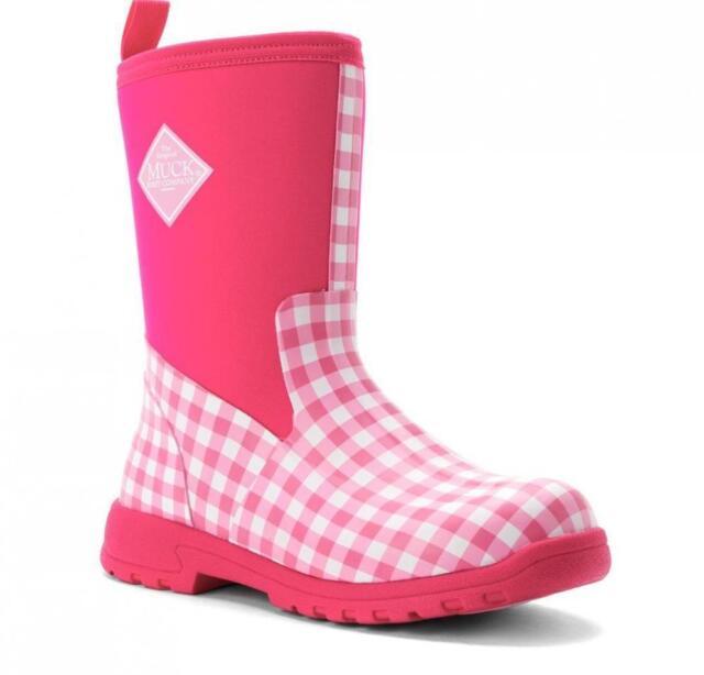 The Original Muck Boot Company Kids Breezy Mid Rain BOOTS Pink ...