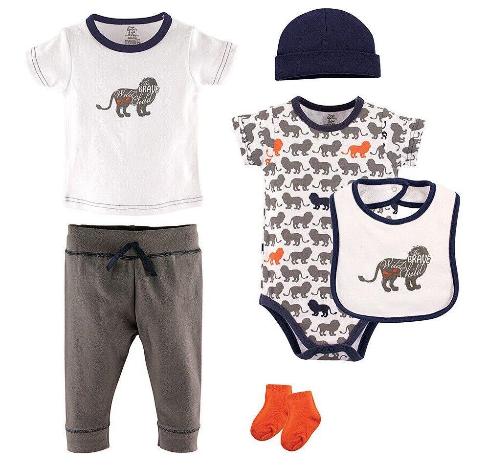 Boys HUDSON BABY lot 0-3-6-9 months NWT lion t shirt pants b