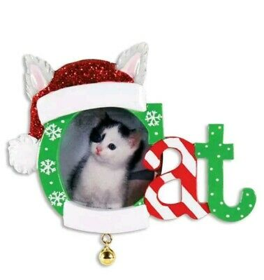 Christmas Cat Picture Frame Can Be Personalized Christmas Ornament Polar X NEW