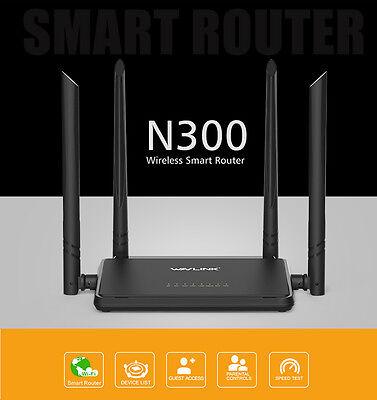 Wavlink N300 Smart Wireless Router Designed High Power 4*5Dbi External Antennas