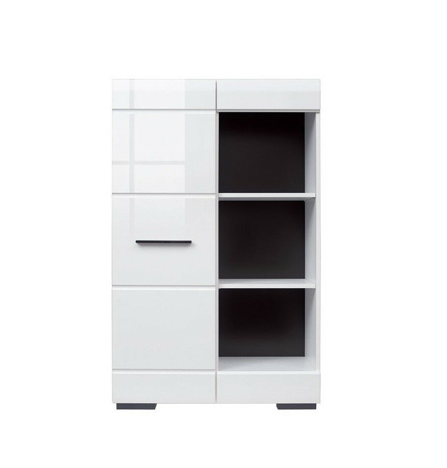 White Gloss Modern Living Room Furniture Set Led Wall Unit Tv Cabinets Fever 2 5900211616111