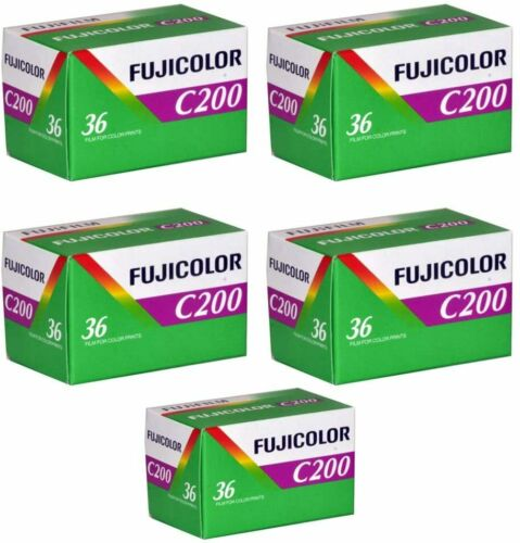 Fujicolor Fuji C200 35mm Color Film Roll - 5 Pack