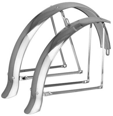 "4Pcs Bicycle Fender Braces Struts w//Screws Chrome for 24/"" Bike Lowrider Cruiser"