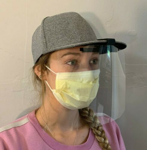Reusable Clip-on Face Shield For Hats (1 complete face shield per order)