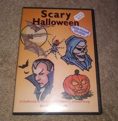 Scary Halloween 33 Embroidery designs  disk part 756 254600 Preowned DVD