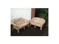 2 matching cane sofas. Free local delivery