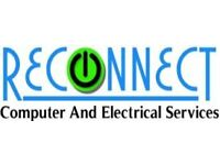 Reconnect Computer and Electrical Services. Repairs to Phone, tablet, computers etc. Tape to DVD