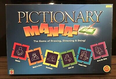 PICTIONARY - Mania Board Game - Family Christmas Game - 100% Complete - Free P&P ()