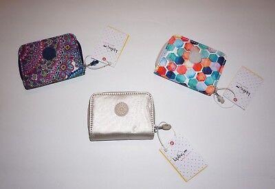 Kipling Tops Mini Wallet choose Gleaming Gold or Sapphire NWT