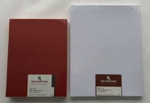 "Lot 2: 5107+5112 Red River Paper 68 lb. UltraPro Satin 8.5x11+11x14"",150 Sheets"