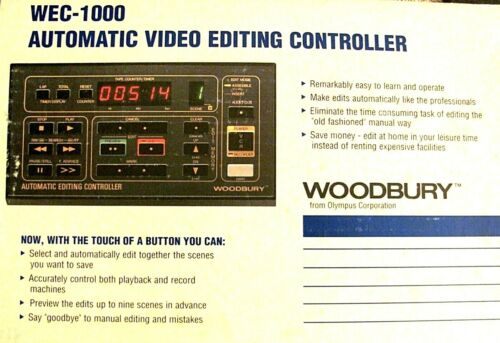 Woodbury Video Editing Controller​ Editor for 8mm VHS VCR Video Camera Camcorder