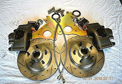 1954 1955 1956 FORD FAIRLANE/VICTORIA/WAGON FRONT DISC BRAKES CROSS DRILL ROTORS