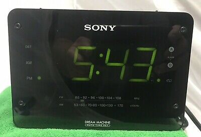 Sony ICF-C414 Dream Machine Large Digital Display Dual Alarm Clock Radio Black