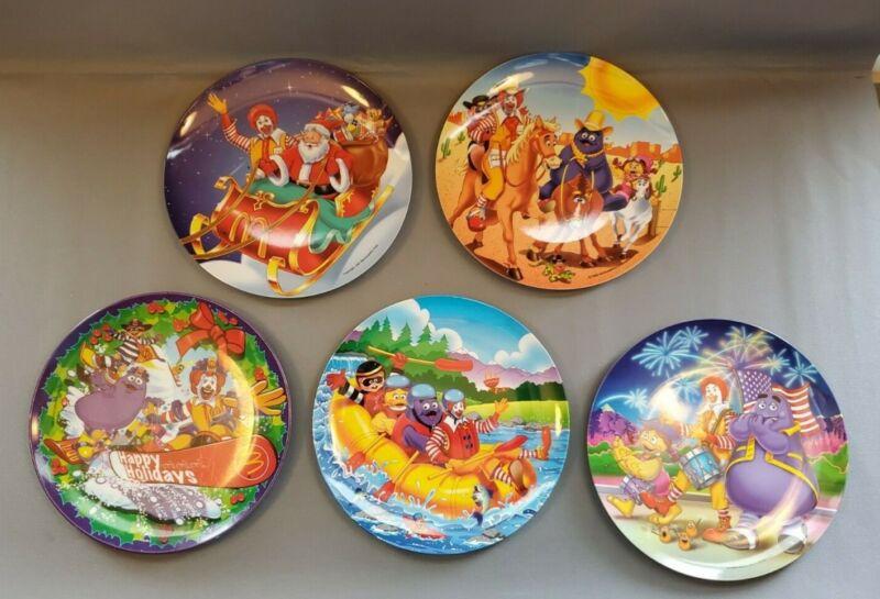 McDonalds Ronald McDonald Vtg Collector Plates Melamine Carnival 1990/2000s