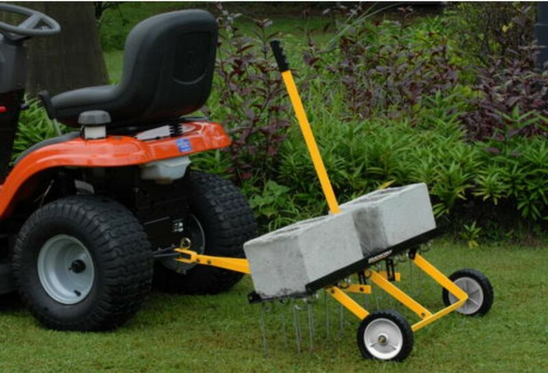 """42"""" Tow Behind Lawn Dethatcher Detangler Soil Grass Dirt Spreader Tractor ATV"""
