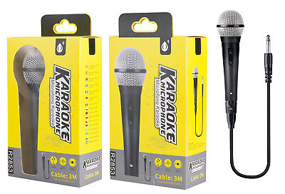 Microfono Dinamico per Musica VOCE Karaoke Canto con CAVO Filo XLR 3mt