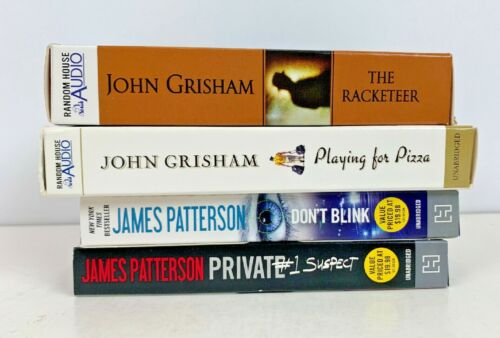 Audiobooks Lot Of 4 Patterson Grisham