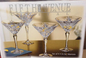 Crystal Martini glasses