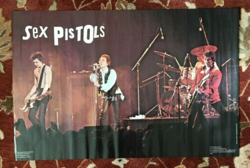 SEX PISTOLS  rare commercial poster from 1978  (great live shot)