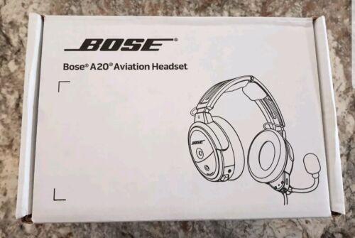 NEW Bose A20 Aviation Headset - G.A. Twin Plug, Bluetooth - 324843-3020