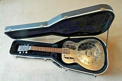 Vintage AMG1 Acoustic Resonator Guitar/Bell Brass/Kinsman Hard Case