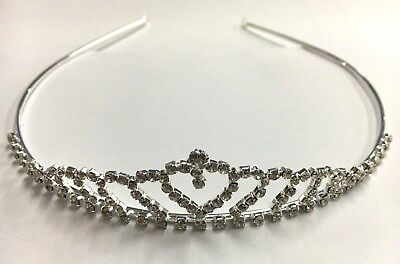 Holy Communion Tiaras (Simply Beautiful Diamante Crystal Holy Communion Adult Size Tiara with Heart )